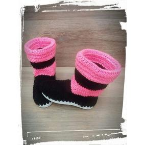 Botas Tejidas A Crochet Ideal Para El Invierno