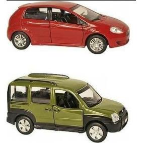 Carrinhos De Metal Para Coleção Fiat Punto E Fiat Doblo