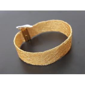 Bracelete Feminino De Malha Italiana 100% Ouro 18k
