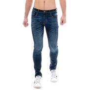 Jeans Pantalón De Mezclilla Caballero Skinny Dark Indigo