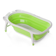 Bañera Para Bebe Plegable Reclinable C/ Tapon Medidor Temp.