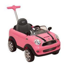 Montable Push Car Mini Cooper Rosa Prinsel