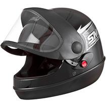 Capacete Moto Sm Automatico Marino Pro Tork Preto Motoboy