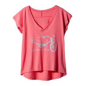 Remera Reef The Current Tee Mujer Rosa