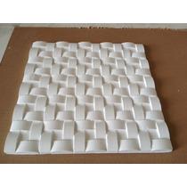 Kit De 5 Formas De Plástico Com Borracha Para Gesso 3d