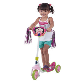 Patinete Show Da Luna 3 Rodas Brinquedo De Menina Multibrink
