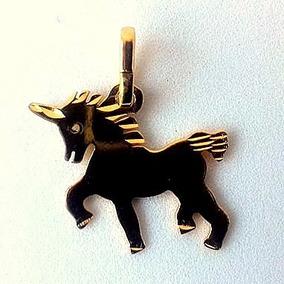 Hermoso Dije De Unicornio Oro Laminado 14k + Envío Gratis