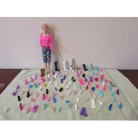 Kit 100 Sapatos Só Um Pé, Para A Boneca Barbie R$ 40,00