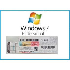 Chave De Ativação Windows 7 Pro - Oem 100% Original