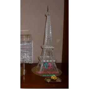 Torre Eiffel Acrilico Centro Mesa Despedida Soltera Boda 50c