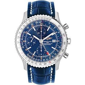 Reloj Breitling Navitimer World Blue Dial Hombres A / C651-