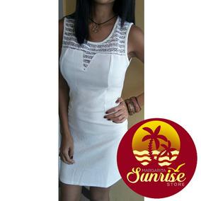 Vestido Blanco Casual Coctel Encaje Dress