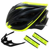 Casco Bicicleta Ruta Montaña Gw Hornet M Negro + Reflectivos