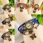 Reloj Etnico Pulsera 11 Colores 5 Dijes