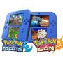 2ds + 32gb Com Varios Jogos De 3ds E Pokemon Sun E Moon