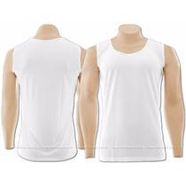 Camiseta Machão Branca Lisa Malha 100% Algodão-fio 30.1