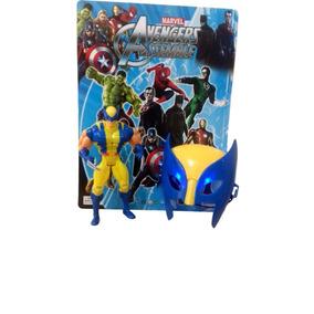 Kit Boneco Articulável Marvel Wolverine + Máscara Com Led