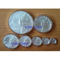 Coleccion 7 Monedas Plata Libertad 2016 Nuevas Encapsuladas