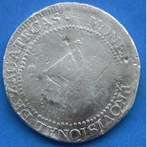 Moneda Provicional De 8 Reales Plata Zacatecas 1811 L.v.o.
