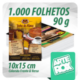 1000 Panfleto Folheto Flyer 10x15 Cm F/v Color Couchê 90g
