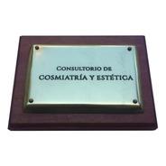 Placa De Bronce Para Profesion, Cartel Estudios. 15x7cm.