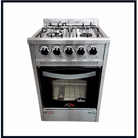 Cocina Industrial Fornax 4h 60 Cm Acero Inox Horno Visor