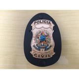 Distintivo Polícia Civil Dourado - Frete Gratis