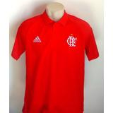 Camisa Flamengo Polo Vermelha 2017/18 - Comissão Técnica