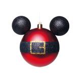 Bola Decorativa Disney Mickey C/10cm Desenho Cinto C/02 Unid