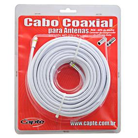 Kit Cabo Coaxial Capte 15mts Redução De Interferências- Rg 6