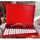 Metalofono Xilofono De 25 Placas Con Estuche En Madera