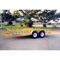 Remolque Cama Baja 6000kg Reciclado,maquinaria,montacargas