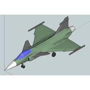 Saab Jas 39 Gripen - 25cm - Impressão 3d