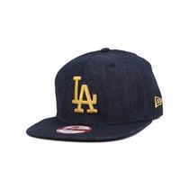 Boné Aba Reta La Dodgers Jeans New Era Original Fit Snapback