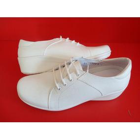 Calzado Enfermería Zapatos De Enfermera Profesional Blancos