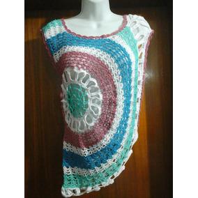 Blusa Calada Sin Mangas Tejida A Crochet