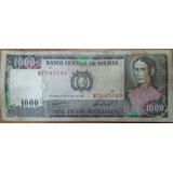 Bolivia Billete De Mil Pesos Bolivianos Año 1982