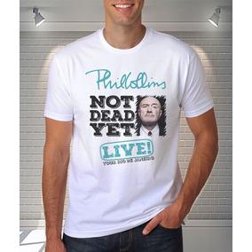 Camisa Phil Collins Not Dead Yet Tour Rio De Janeiro Blusa