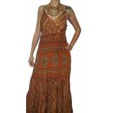 Vestido Largo Moda Indu Importado