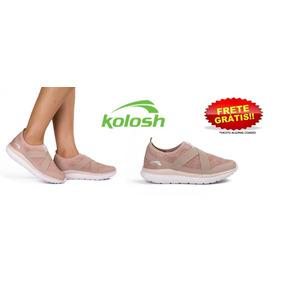 1f6acd667c Tãªnis Kolosh Elastico Lateral - Tênis para Feminino Nude no Mercado ...