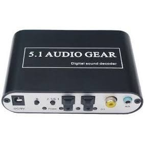 Conversor Adaptador Audio Digital Para Analógico 5.1 Ou 2.1