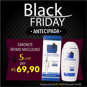 Black Friday - Kit De 5 Sabonetes Íntimo Masculino