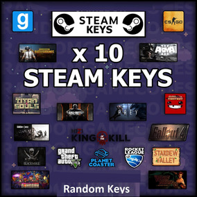 10 Jogos Steam Key - Aleatórios -. Random Key Virtual Store
