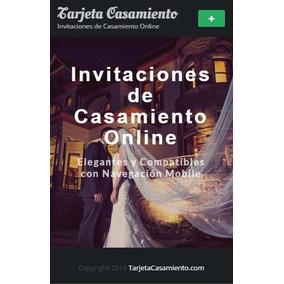 Tarjeta Invitación Casamiento Online Digital Elegante Mobile