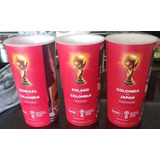 Vasos Coca Mundial Peru Colombia Budweiser 3x250 Rusia 2018