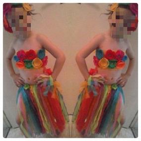 Pollera Hawaiana ! Para Disfraz Niñas L Del Mirador/banfield