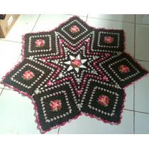 Tapete Em Crochê Para Sala Quarto Carpete Barbante