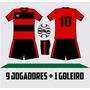 10 Conj De Uniforme De Futebol Campo Futsal