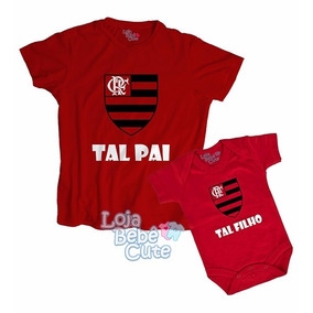 Kit 2 Blusas Tal Pai Tal Filho Time Flamengo Ouqualquer Time