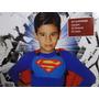Fantasia Infantil Super Homem Man Peitoral E Capa Vermelha